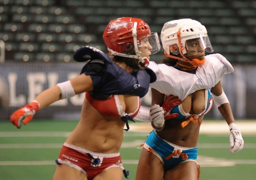 Lingerie Football Wardrobe Malfunction Cheerleader