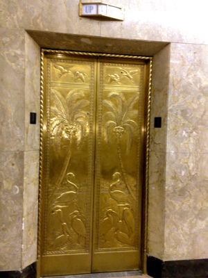 elevator door at Dupont building