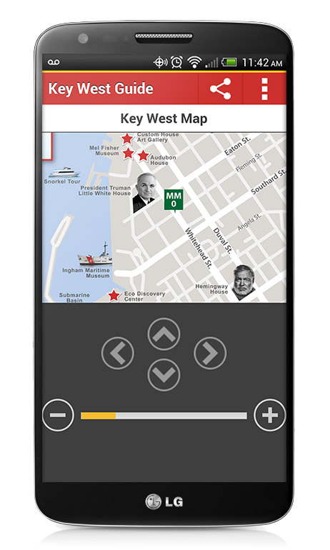 Audiobook Map on the Key West App