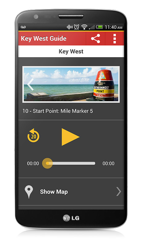 Audiobook Chapter on the Key West App