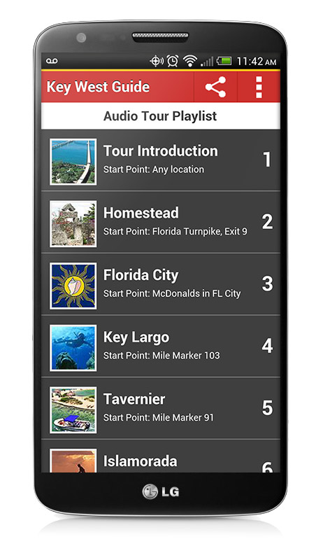 Audiobook Playlist on the Key West App