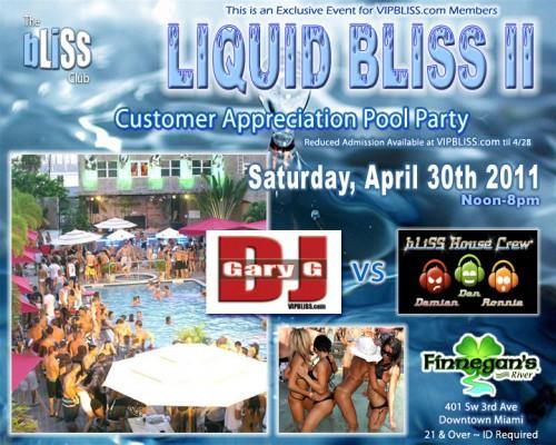 Liquid Bliss Pool Party Miami