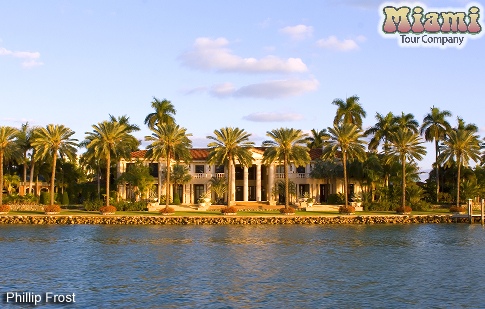 Map of celebrity homes in miami