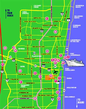 A map of Fort Lauderdale