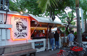 The famous Hog's Breath Saloon in Key West, Florida