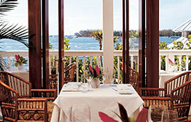 Dining at the Ocean Point Resort in Key West, FL