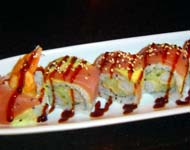 Dragon Roll at Flirt Sushi in Miami Beach