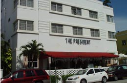 President Hotel on Collins Avenue