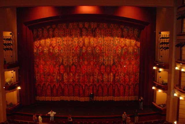 Curtain at the Ziff Ballet Opera House
