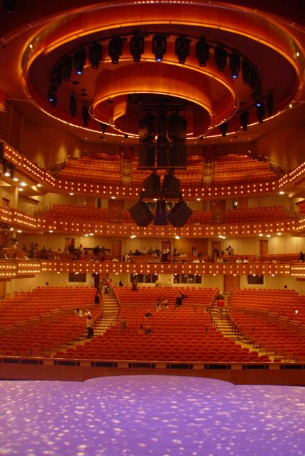 Knight Concert Hall from Center Stage