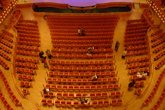 Knight Concert Hall main floor seating.