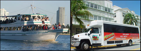 Biscayne Bay Sightseeing Cruise in Miami, Florida.